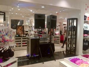 Set up in Victoria Secret