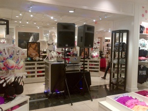 Set up in Victoria Secret