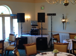 Set up at GreenCroft Country Club
